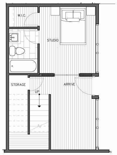First Floor Plan of the Kristiansten Floor Plan at The Trondheim in Crown Hill
