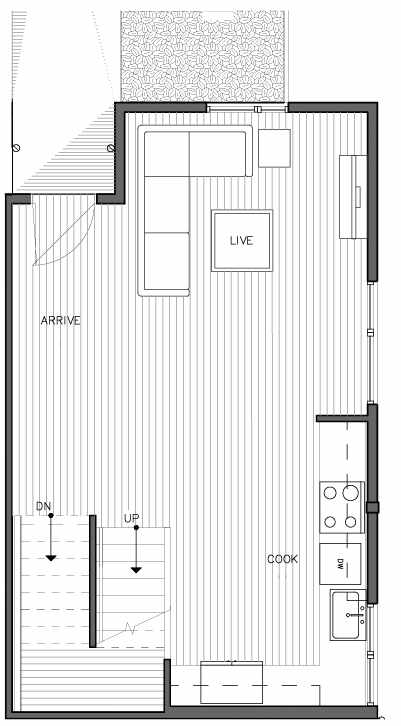 Second Floor Plan of the Kristiansten Floor Plan at The Trondheim in Crown Hill