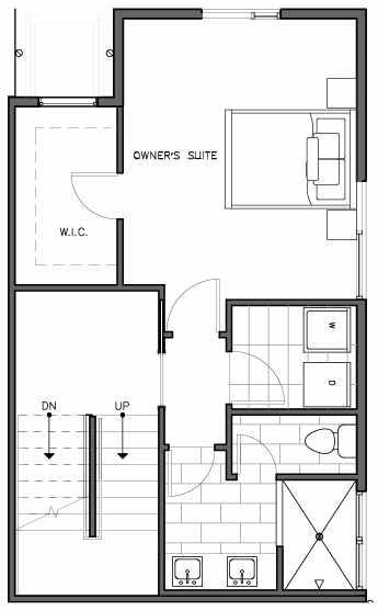 Third Floor Plan of the Kristiansten Floor Plan at The Trondheim in Crown Hill