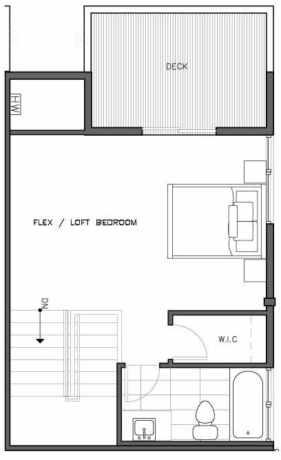 Fourth Floor Plan of the Kristiansten Floor Plan at The Trondheim in Crown Hill