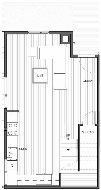 First Floor Plan of the Korsvika Floor Plan at The Trondheim in Crown Hill