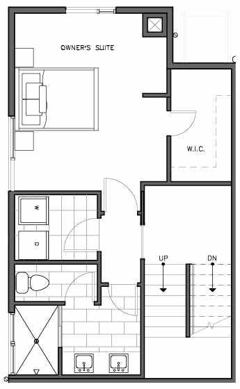 Second Floor Plan of the Korsvika Floor Plan at The Trondheim in Crown Hill