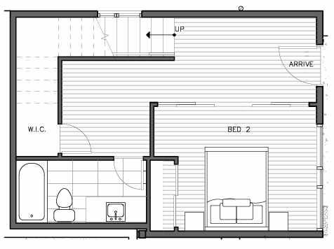 First Floor Plan of the Bakklandet Floor Plan at The Trondheim in Crown Hill