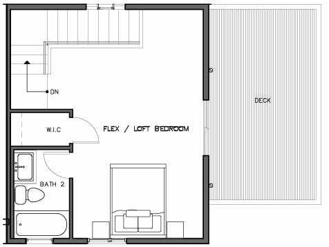 Fourth Floor Plan of the Bakklandet Floor Plan at The Trondheim in Crown Hill