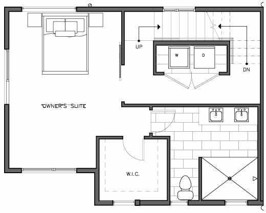 Second Floor Plan of the Bymarka Floor Plan at The Trondheim in Crown Hill