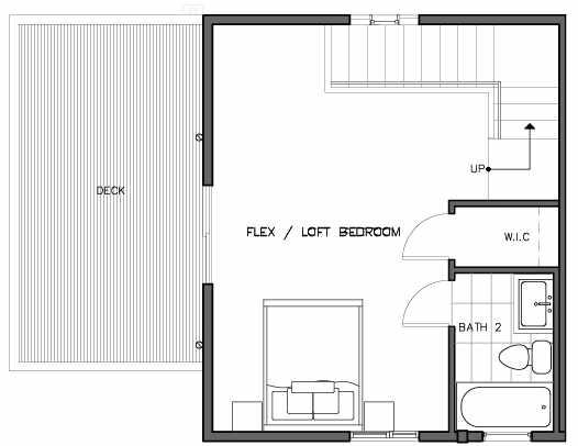 Third Floor Plan of the Bymarka Floor Plan at The Trondheim in Crown Hill