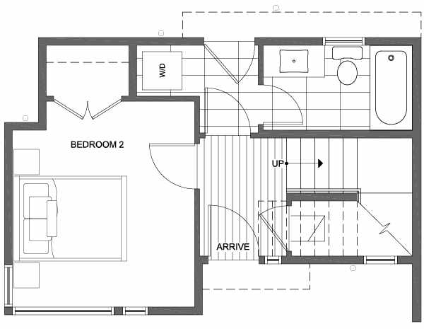 First Floor Plan of 6111 17th Ave NW of the Kai Townhomes in Ballard