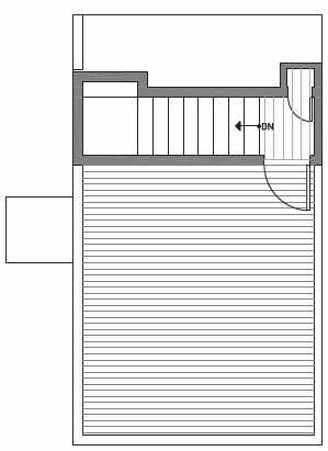 Fourth Floor Plan of Centro Townhomes Unit 363C in Seattle by Isola Homes