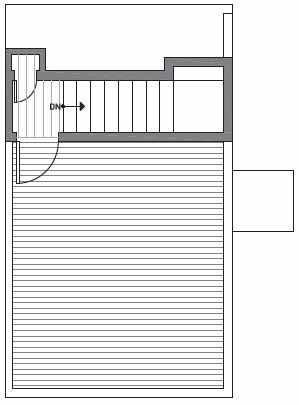 Fourth Floor Plan of Centro Townhomes Unit 363D in Seattle by Isola Homes
