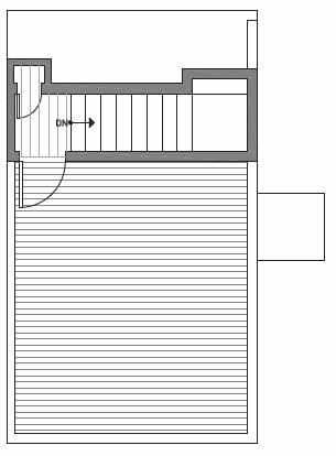Fourth Floor Plan of Centro Townhomes Unit 363B in Seattle by Isola Homes