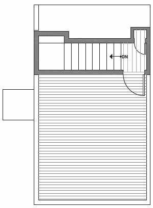 Fourth Floor Plan of Centro Townhomes Unit 363E in Seattle by Isola Homes