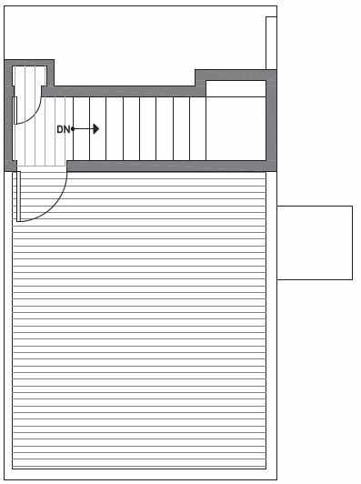 Fourth Floor Plan of Centro Townhomes Unit 363F in Seattle by Isola Homes