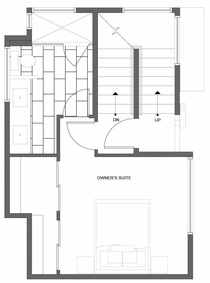 Third Floor Plan of 1035 NE Northgate Way, a Lily Townhome