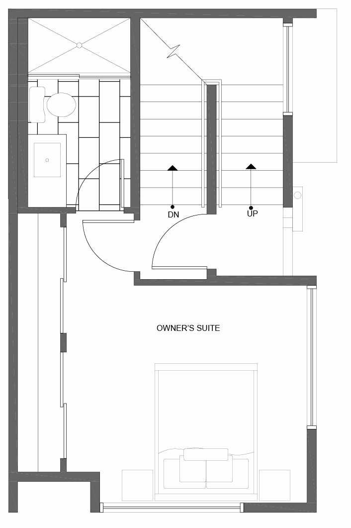 Third Floor Plan of 1037 NE Northgate Way, One of the Lily Townhomes in Maple Leaf by Isola Homes