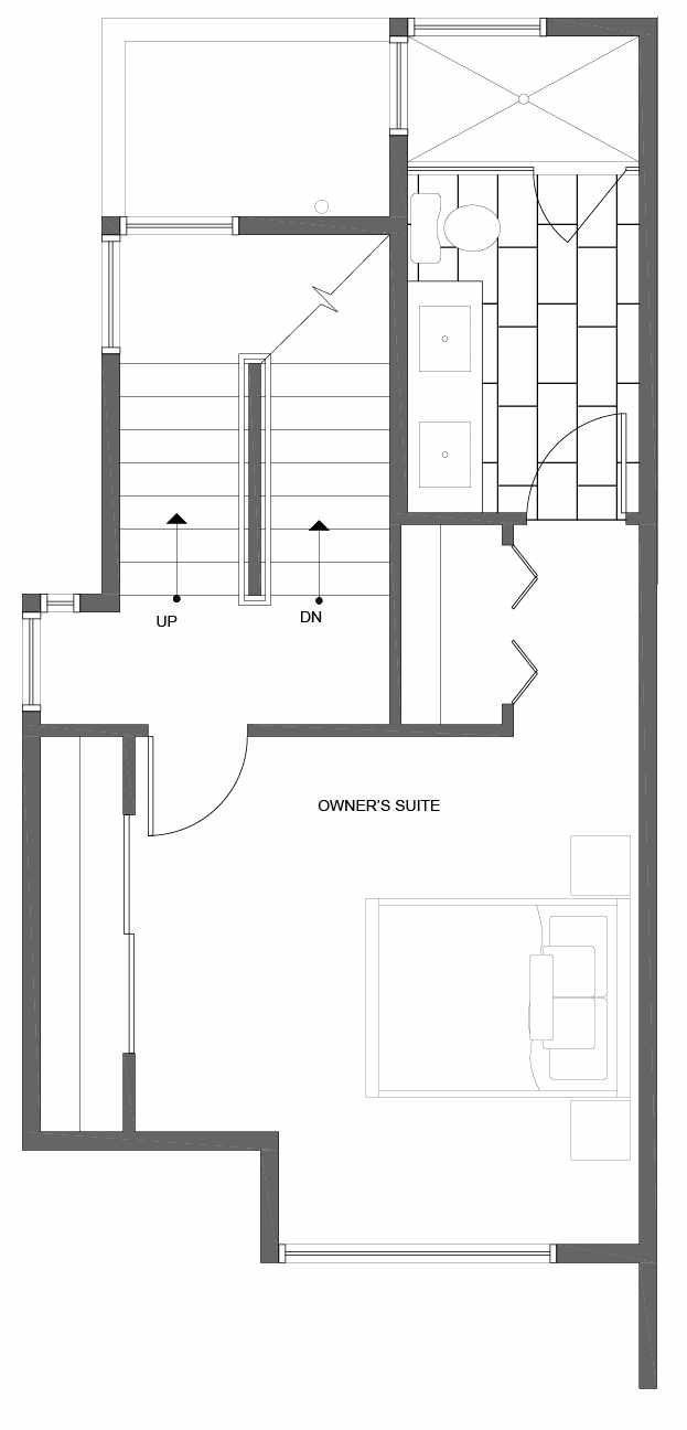 Third Floor Plan of 10839 11th Ave NE, One of the Lily Townhomes in Maple Leaf by Isola Homes