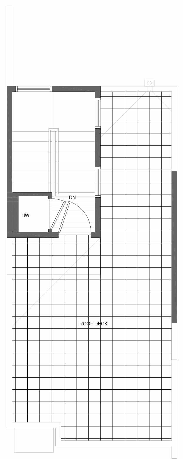 Roof Deck Floor Plan of 10841 11th Ave NE, One of the Lily Townhomes in Maple Leaf by Isola Homes