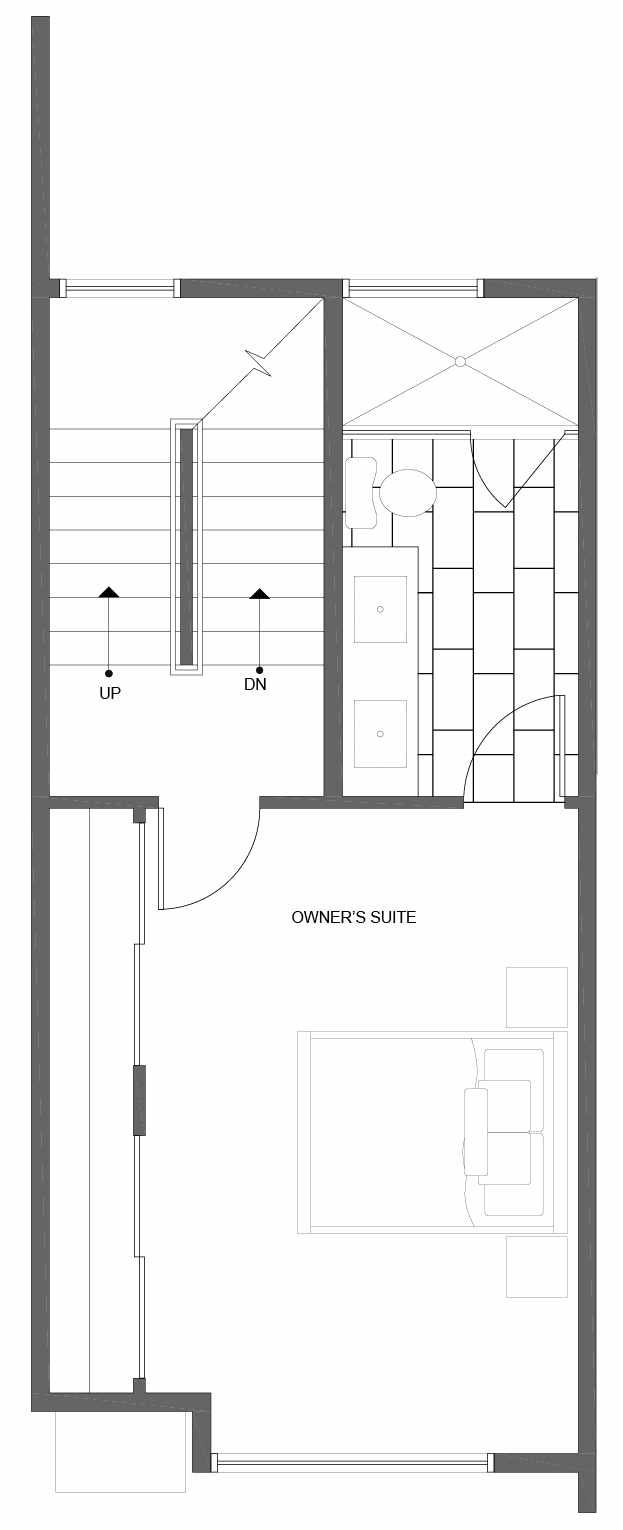 Third Floor Plan of 10841 11th Ave NE, One of the Lily Townhomes in Maple Leaf by Isola Homes