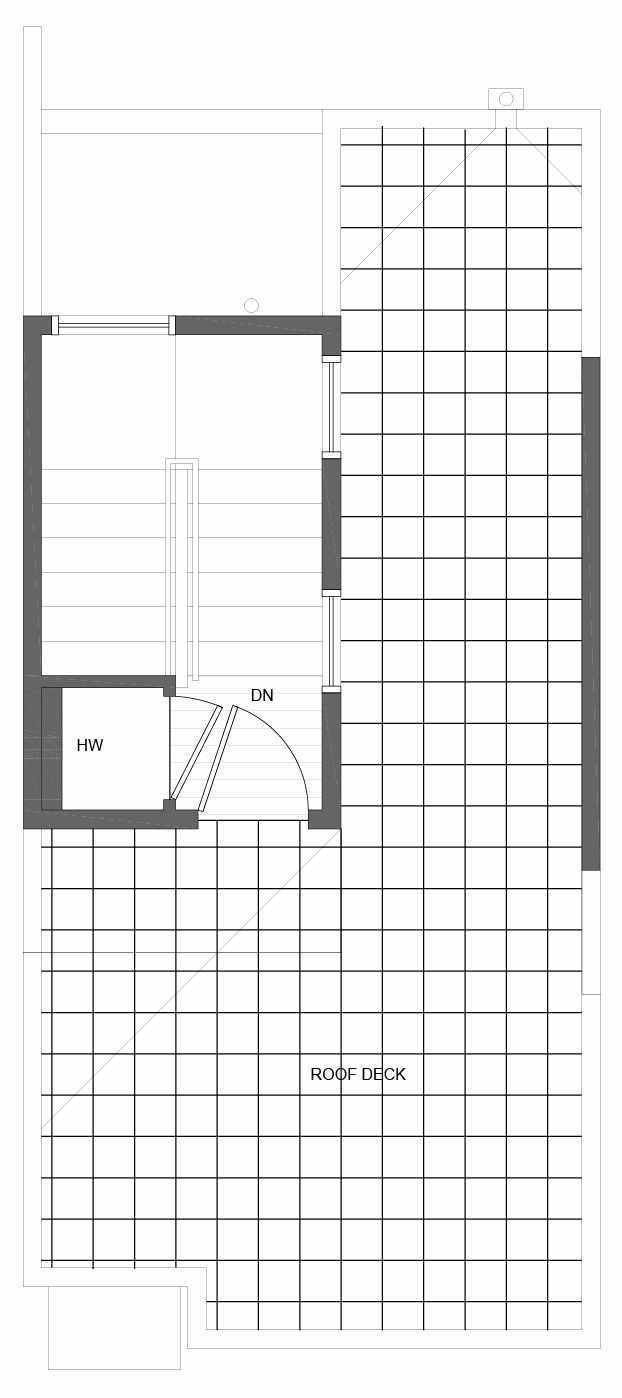 Roof Deck Floor Plan of 10843 11th Ave NE, One of the Lily Townhomes in Maple Leaf by Isola Homes