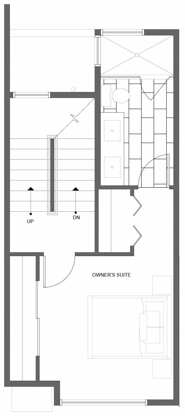 Third Floor Plan of 10845 11th Ave NE, One of the Lily Townhomes in Maple Leaf by Isola Homes