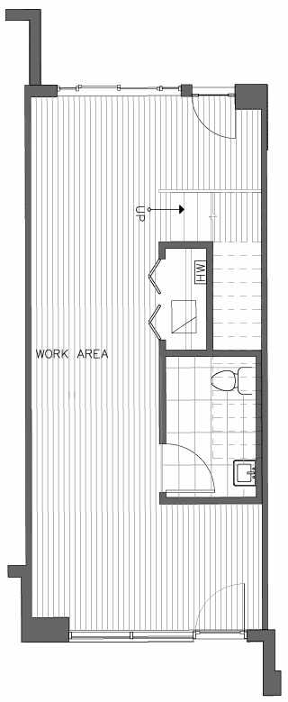First Floor Plan of the Lodgepole Floor Plan at The Pines at Northgate