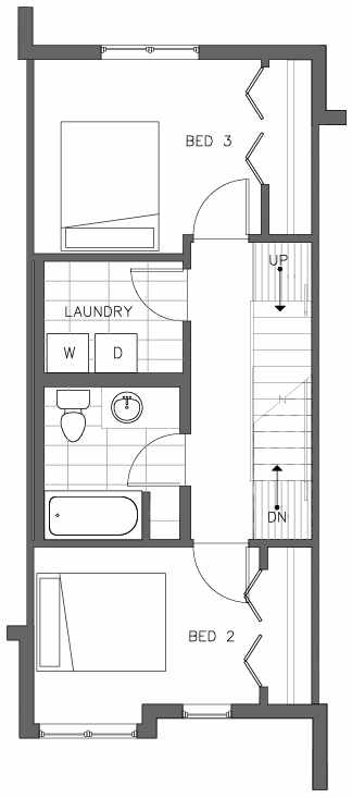 Third Floor Plan of the Lodgepole Floor Plan at The Pines at Northgate