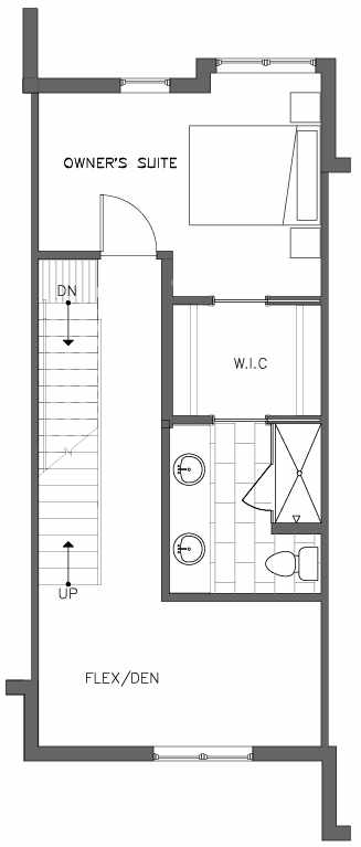 Fourth Floor Plan of the Lodgepole Floor Plan at The Pines at Northgate