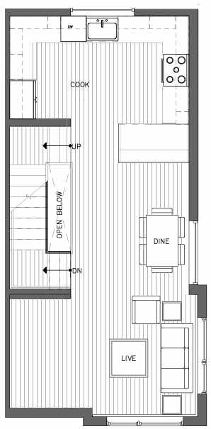 Second Floor Plan of the Monterey Floor Plan at The Pines at Northgate
