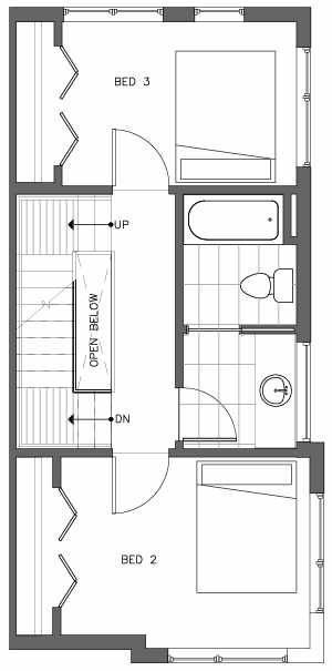 Third Floor Plan of the Monterey Floor Plan at The Pines at Northgate