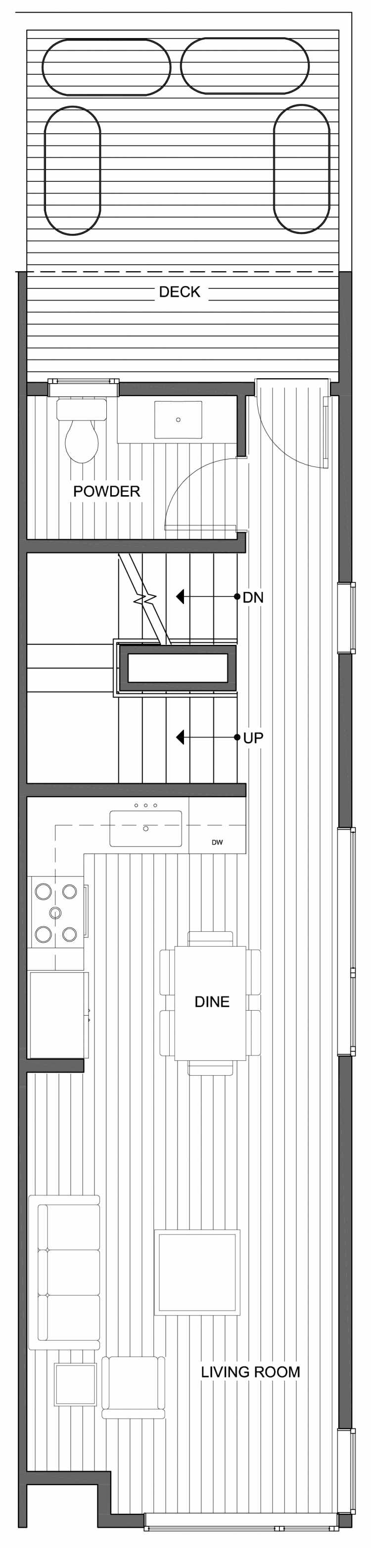 Third Floor Plan of 806G N 46th St, One of the Nino 15 East Townhomes by Isola Homes