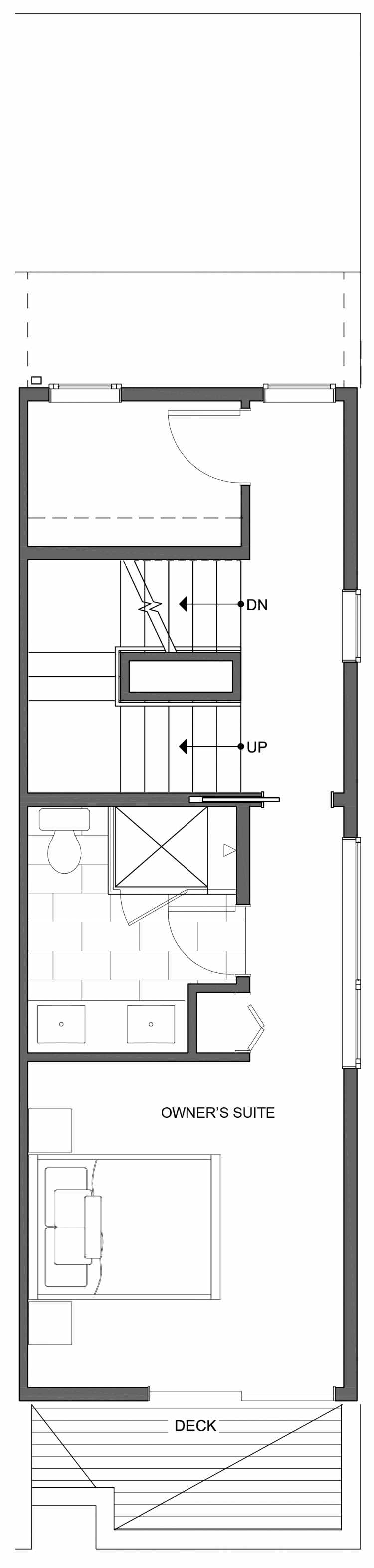 Fourth Floor Plan of 806G N 46th St, One of the Nino 15 East Townhomes by Isola Homes