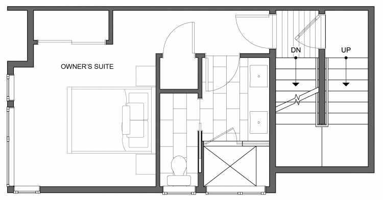 Third Floor Plan of 4630 Linden Ave N, One of the Nino 15 West Townhomes in Fremont by Isola Homes
