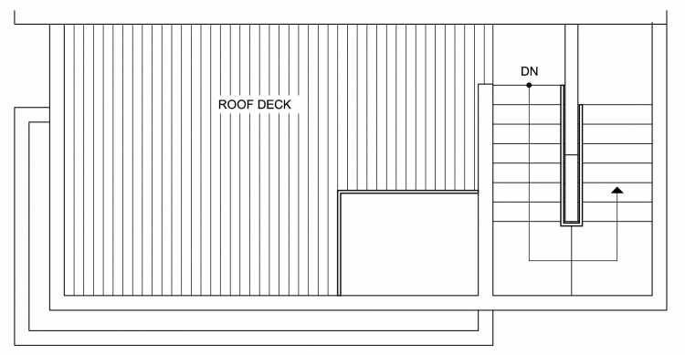 Roof Deck Floor Plan of 4630 Linden Ave N, One of the Nino 15 West Townhomes in Fremont by Isola Homes