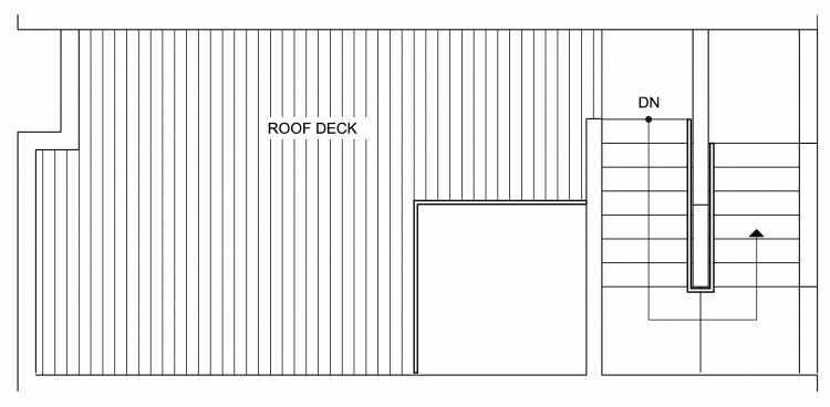 Roof Deck Floor Plan of 4632 Linden Ave N, One of the Nino 15 West Townhomes in Fremont by Isola Homes