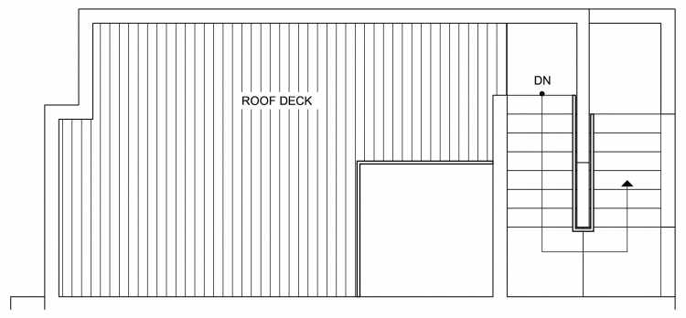 Roof Deck Floor Plan of 4640 Linden Ave N, One of the Nino 15 West Townhomes in Fremont by Isola Homes