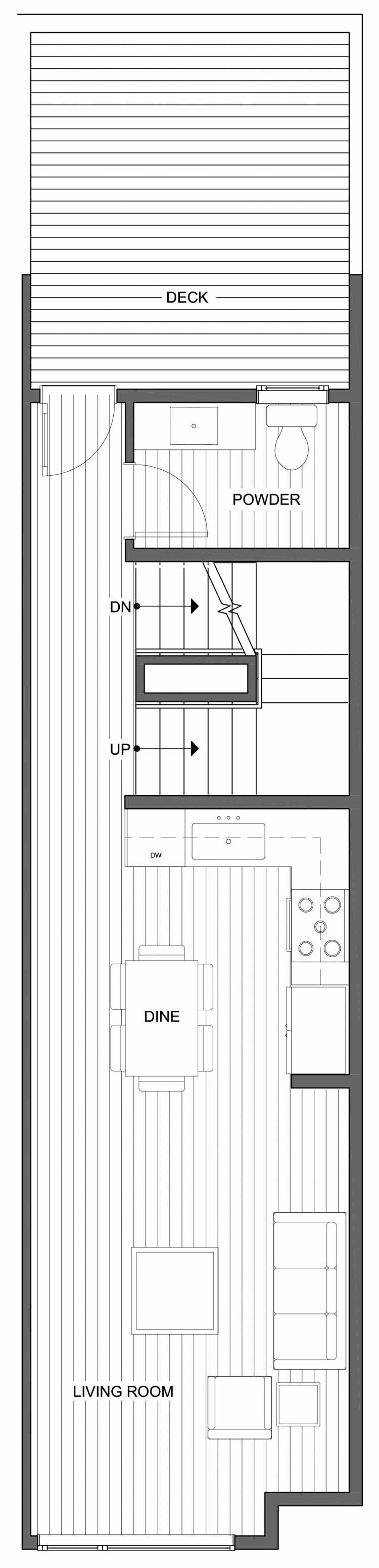 Third Floor Plan of 804 N 46th St, One of the Nino 15 West Townhomes in Fremont by Isola Homes
