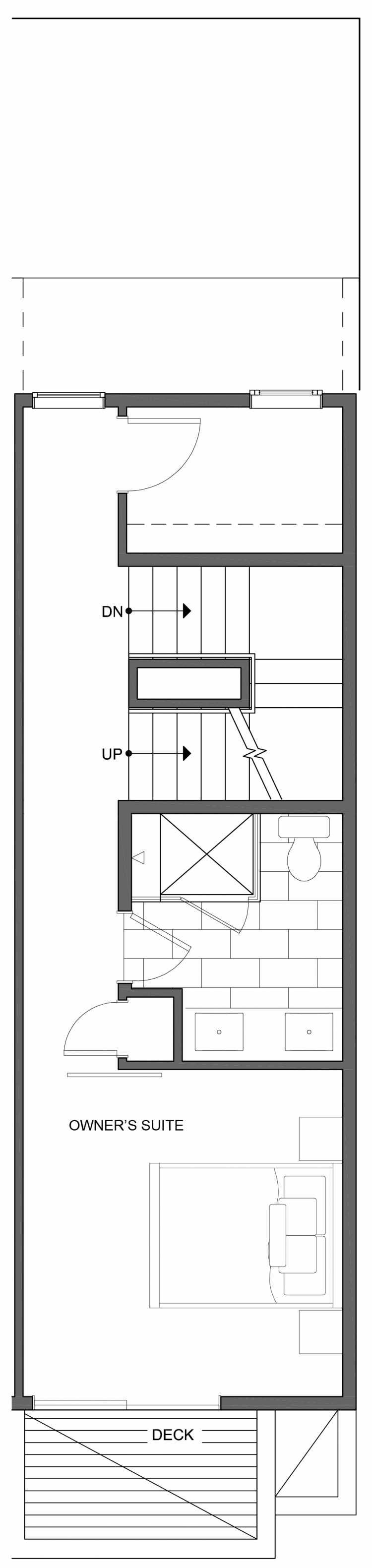 Fourth Floor Plan of 804 N 46th St, One of the Nino 15 West Townhomes in Fremont by Isola Homes