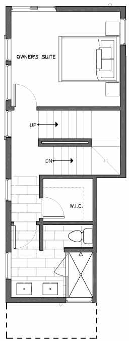 Third Floor Plan of 6505A Phinney Ave N, One of the Baker Townhomes in The Peaks at Phinney Ridge by Isola Homes