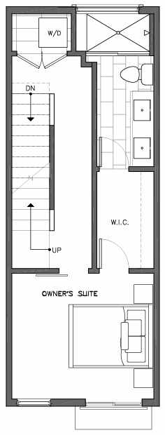 Third Floor Plan of 6511E Phinney Ave N, One of the Homes in The Peaks at Phinney Ridge by Isola Homes