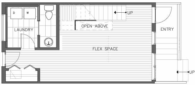 First Floor Plan of the Pinyon Floor Plan at The Pines at Northgate