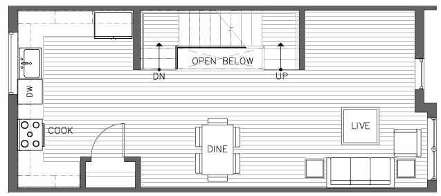 Second Floor Plan of the Pinyon Floor Plan at The Pines at Northgate