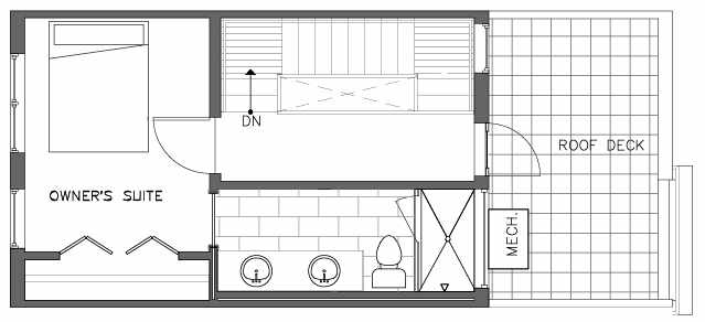 Fourth Floor Plan of the Pinyon Floor Plan at The Pines at Northgate