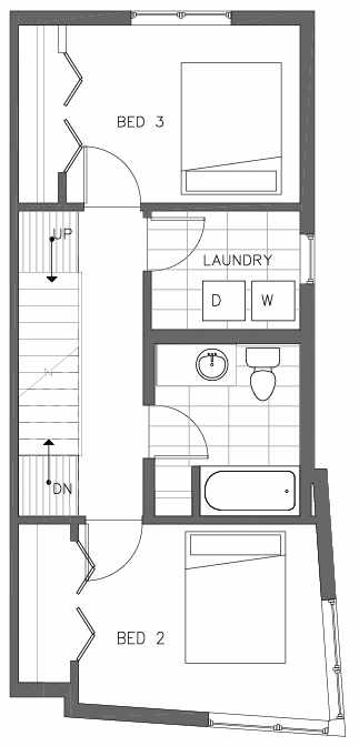 Third Floor Plan of the Ponderosa Floor Plan at The Pines at Northgate