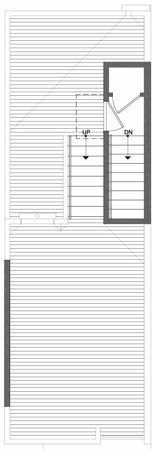 Roof Deck Floor Plan of 6113 17th Ave NW of the Kai Townhomes in Ballard