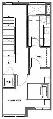 Third Floor Plan of Talta Live-Work Floor Plan D