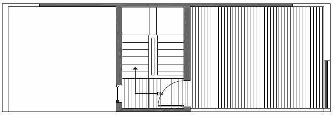 Roof Deck Floor Plan of Talta Two-Bedroom Townhome with the Katrine Floor Plan