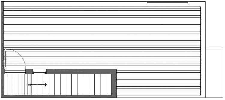 Roof Deck Floor Plan of Talta Two-Bedroom Townhome with the Nissa Floor Plan