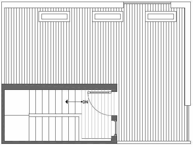 Roof Deck Floor Plan of Talta Three-Bedroom Townhome with the Runa Floor Plan