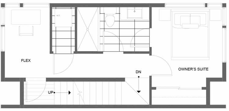 Third Floor Plan of 1271 N 145th St, One of the Tate Townhomes in Haller Lake