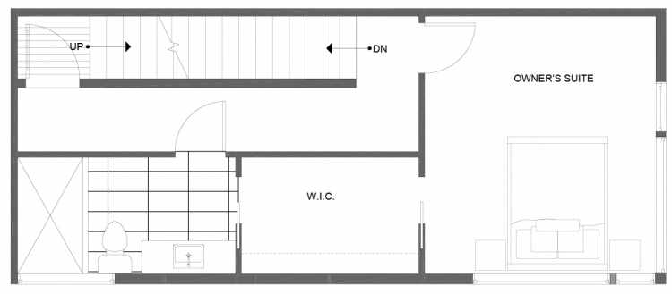 Third Floor Plan of 1281 N 145th St, One of the Tate Townhomes in Haller Lake