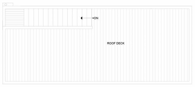 Roof Deck Floor Plan of 1281 N 145th St, One of the Tate Townhomes in Haller Lake